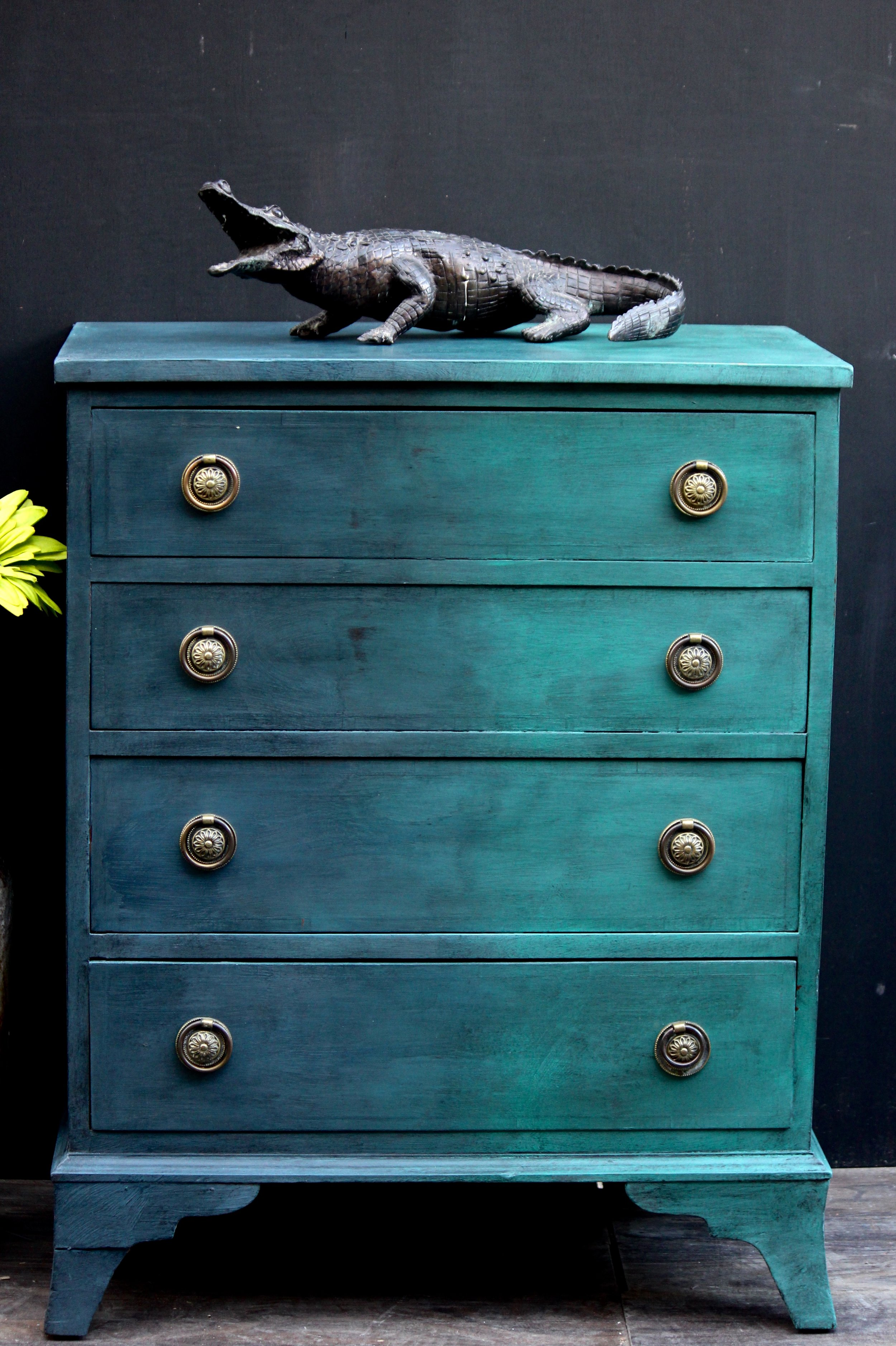Sold Chest Of Drawers Painted Solid Mahogany