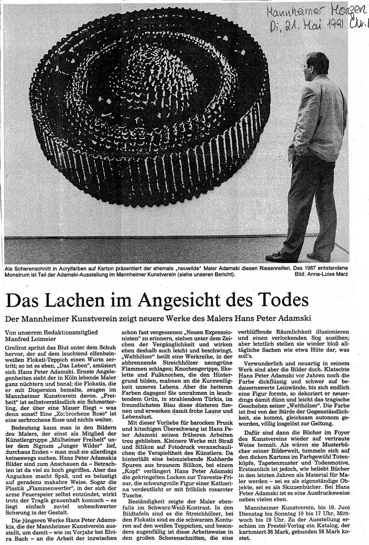 Mannheimer Morgen   1991