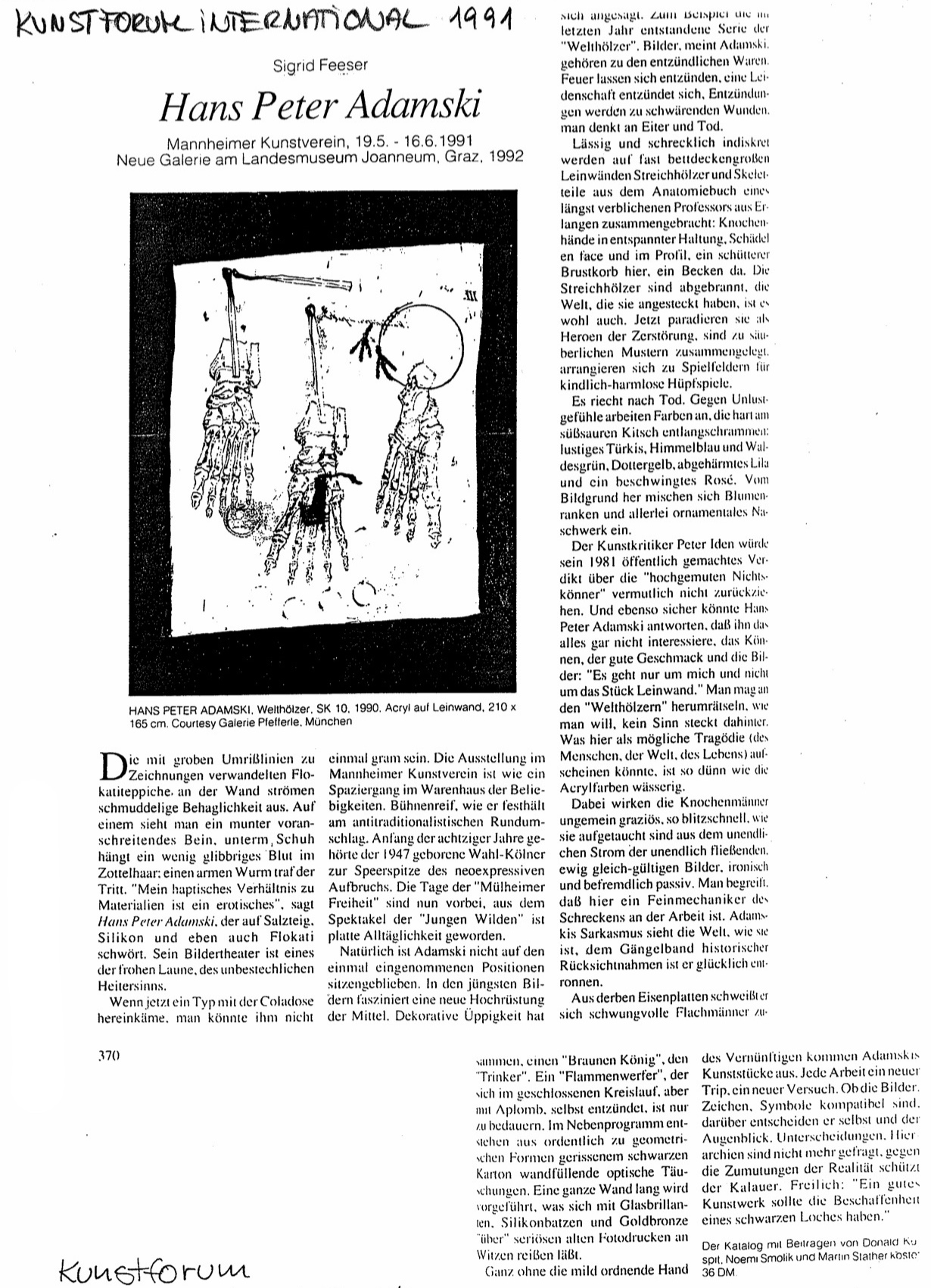 Kunstforum International  1991