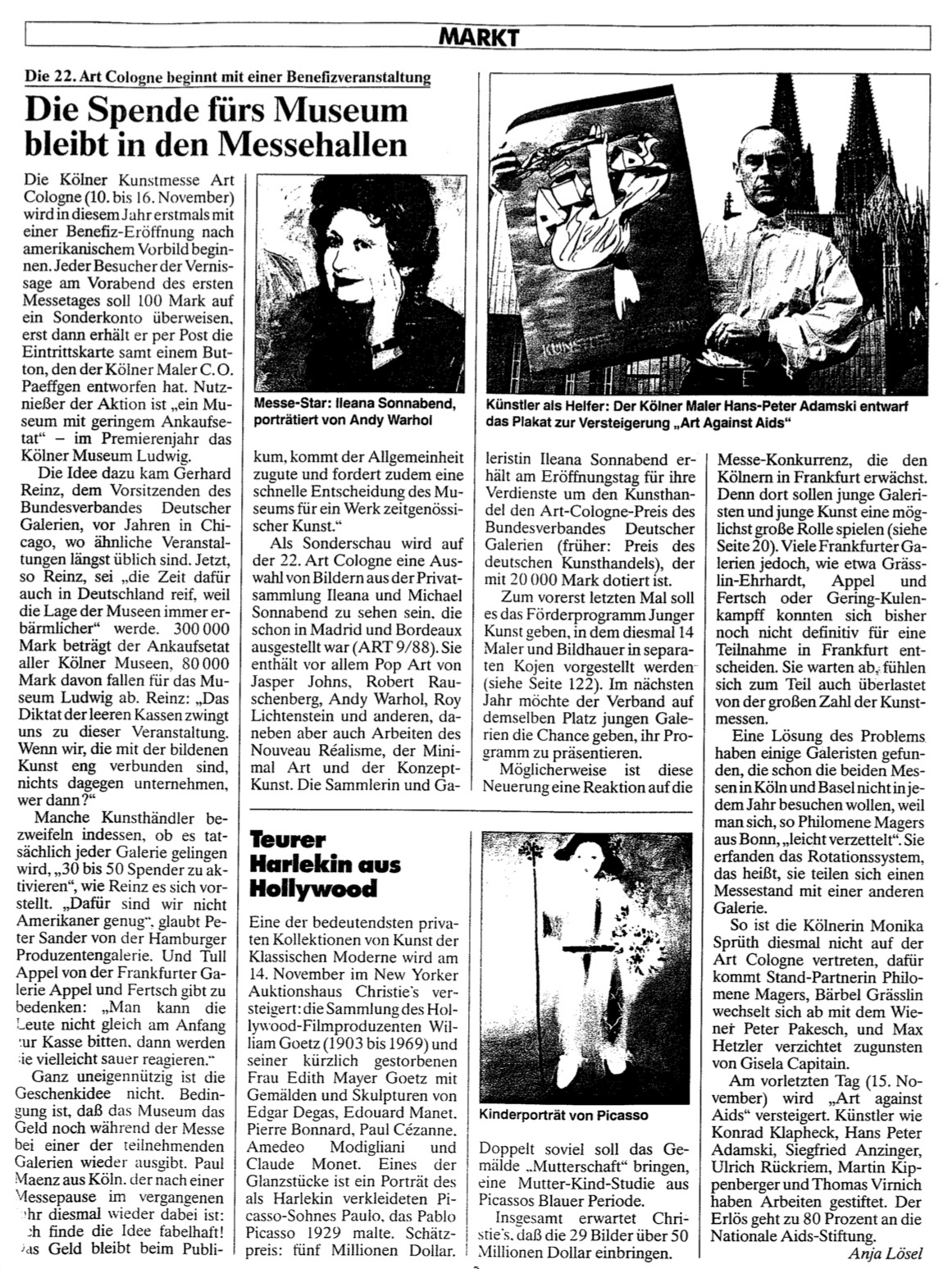 Das Kunstmagazin  1988