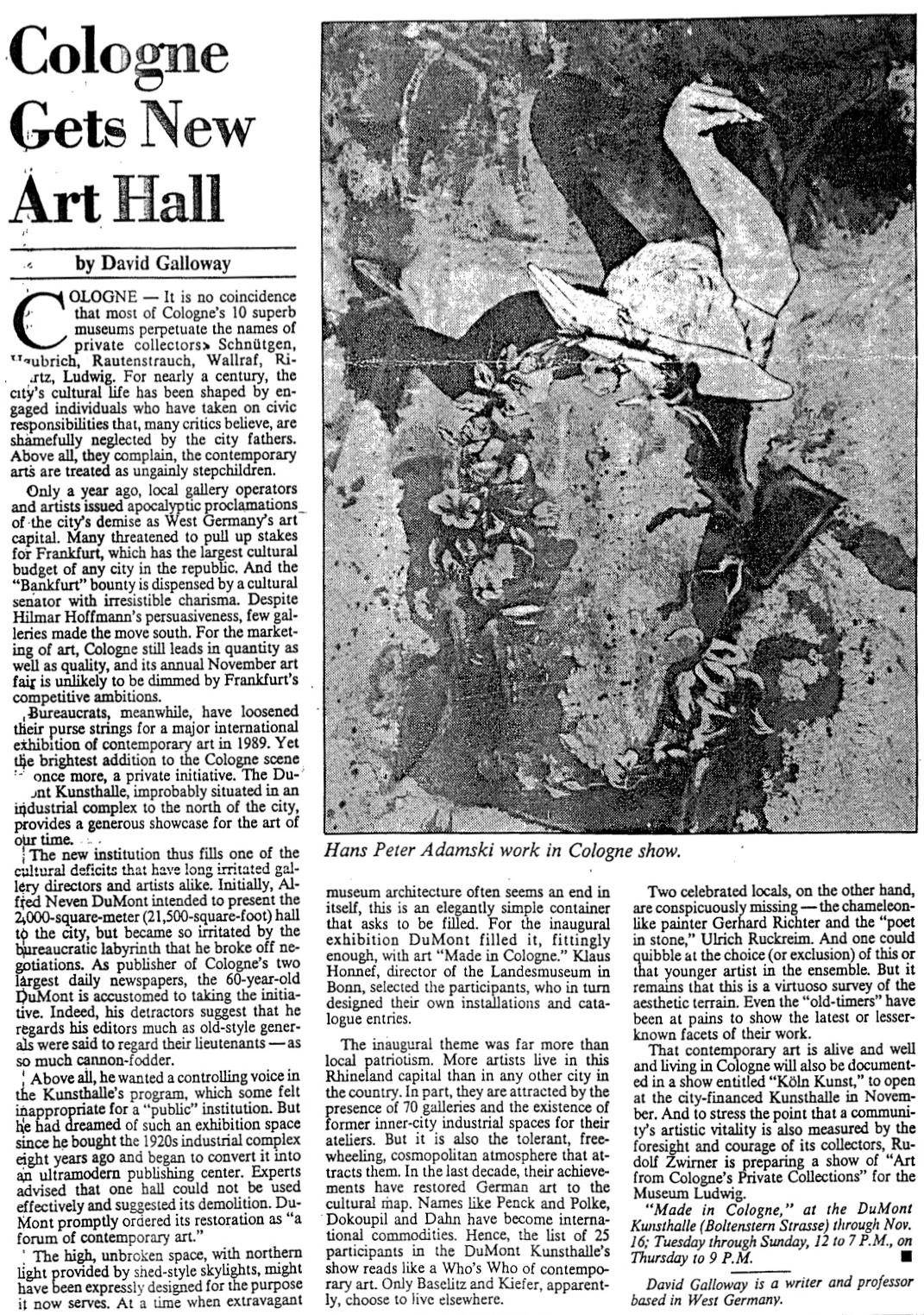 International Herald Tribune  1988