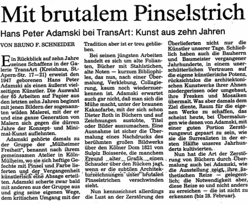Kölnische Rundschau   1991