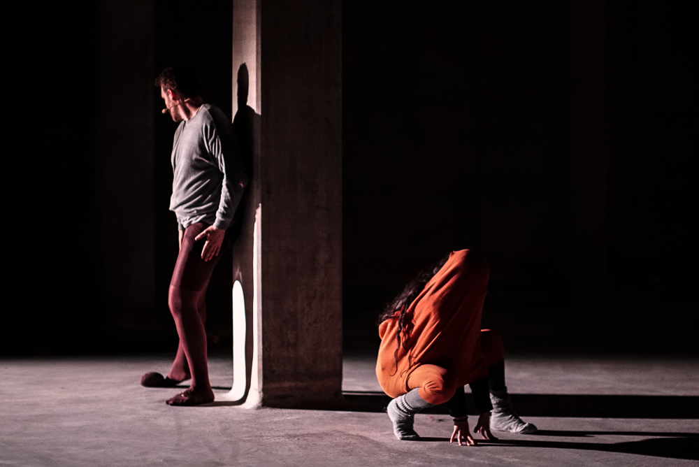 Strandzha - Performance in Zurich in an empty underground water reservoir. The play is build around a journey to the outskirts of the EU borders.