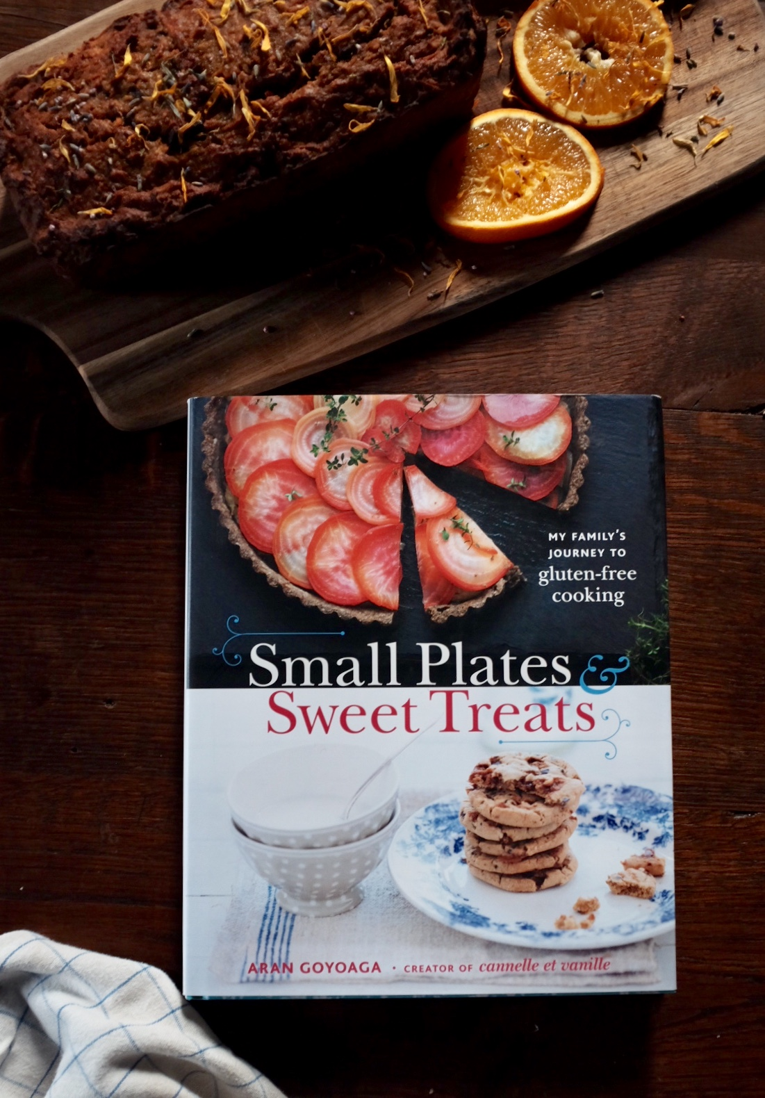 Aran Goyoaga's book - Small Plates & Sweet Treats. My family's journey to gluten-free cooking, published by Little, Brown (2012)