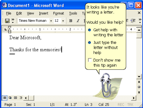 'Clippy' from Microsoft Word