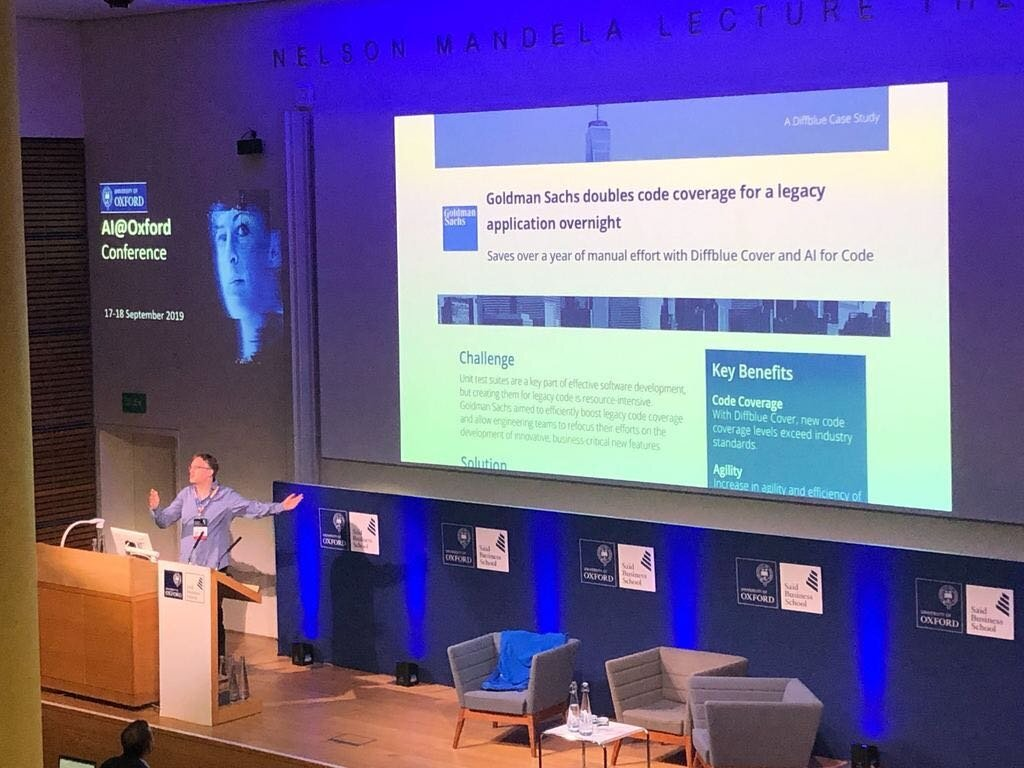 Diffblue's co-founder and Chief Scientist, Professor Daniel Kroening, presenting on Day 1 of the conference.