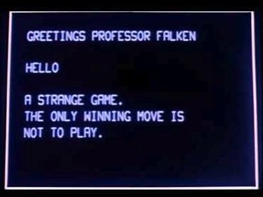 Still from the movie WarGames (1983).
