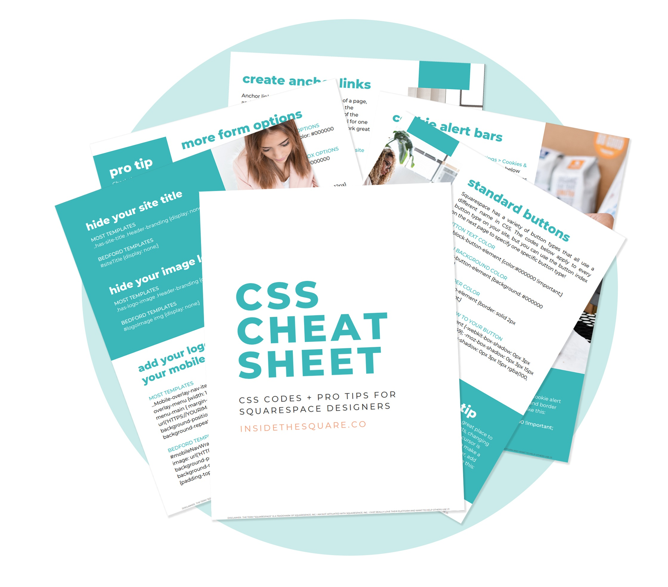 The codes you need to build a better website. - Get the CSS Cheat Sheet, used by Squarespace designers around the world to make stunning websites.