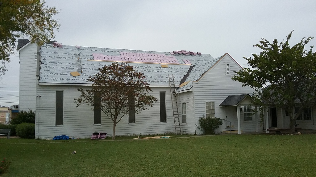 Sanctuary receiving a new roof.