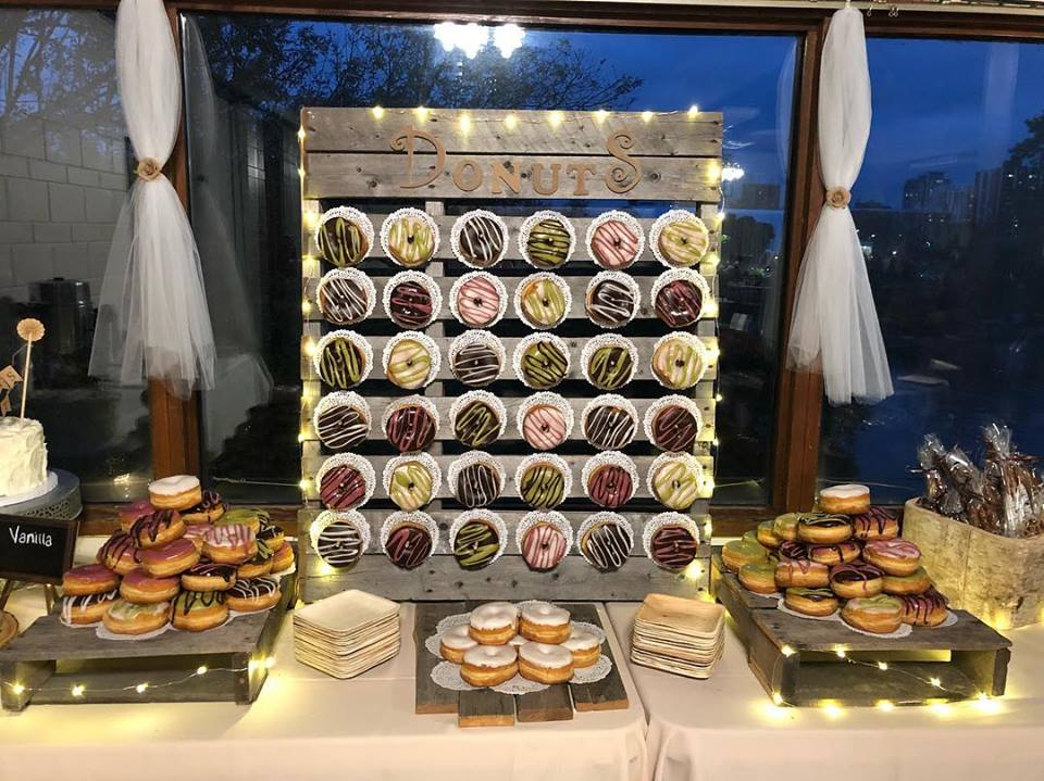 Speaking of sweets… - Don't quit while you're ahead! A complete wall of donuts for you and your guests to devour isn't going too far at all. This wall from Cater Me Please, will seriously impress your guests. Why not go all out when you know you'll be spending the night dancing it off!