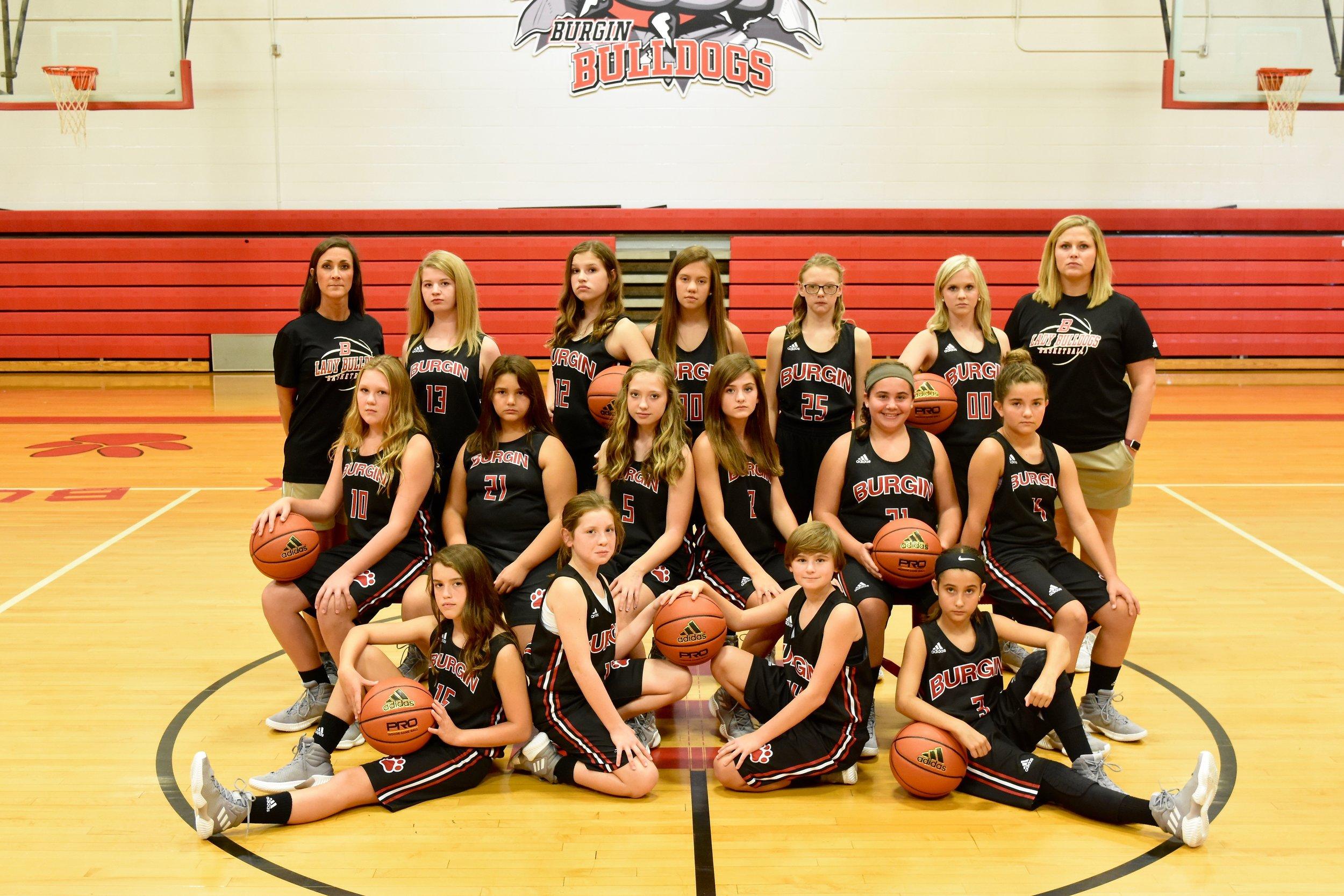 Middle School Girls Basketball Team - Fall 2018