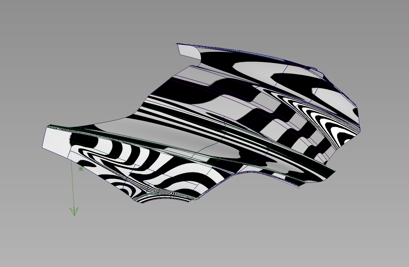 GRACEFUL AND SMOOTH - Zebra stripe analysis is another way to evaluate surface quality and continuity. This technique simulates an exaggerated stripped reflective pattern across the surface network. You can easily pick out problem areas by seeking our undesirable distortions and tears in the analysis.