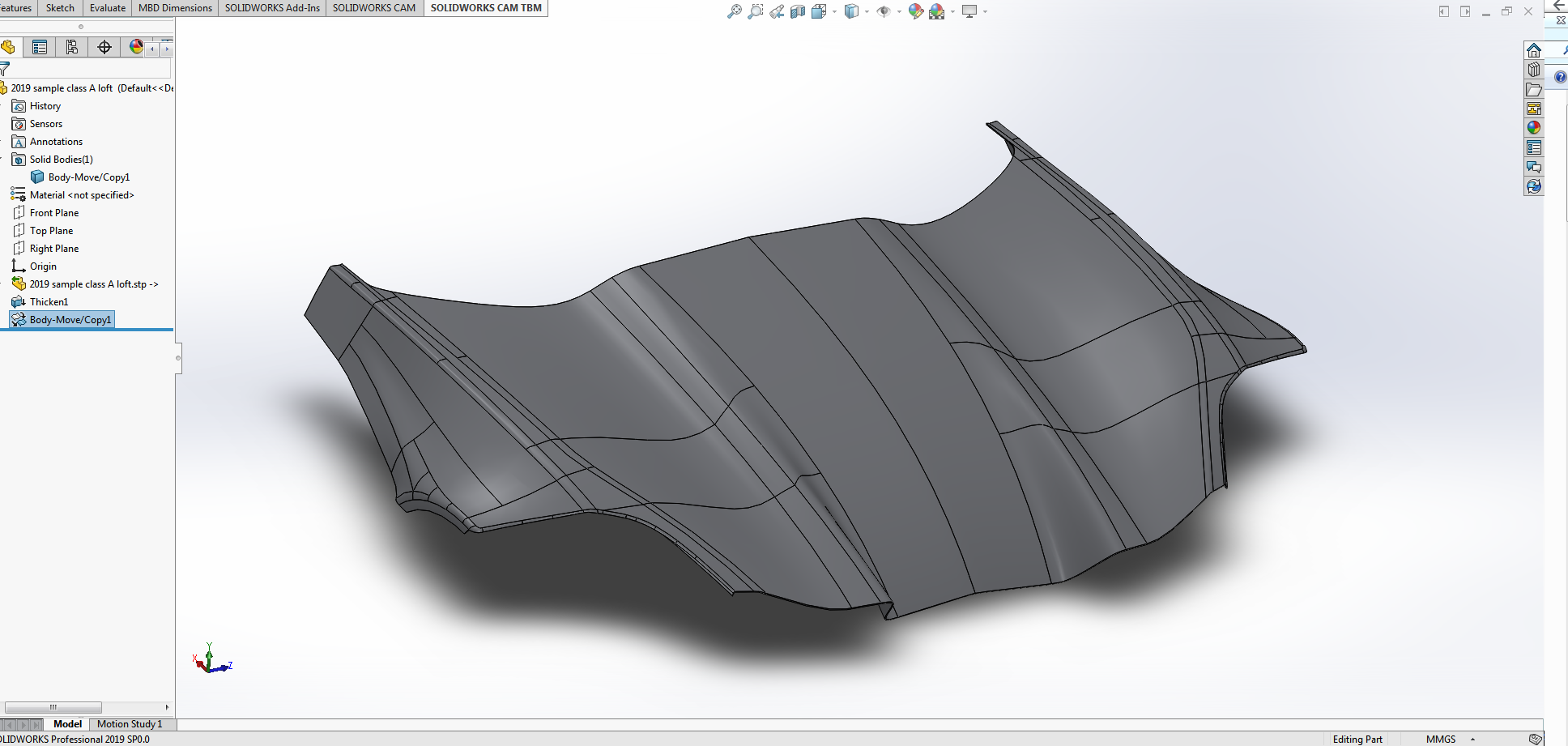 COMPATIBILITY - CAS designers are not the final technician to work on the product. Quite often your CAS surface will be thickened into a part, turned in to tooling, or 3D printed. CAS models need to be compatible with the leading CAD and CAM software suites.