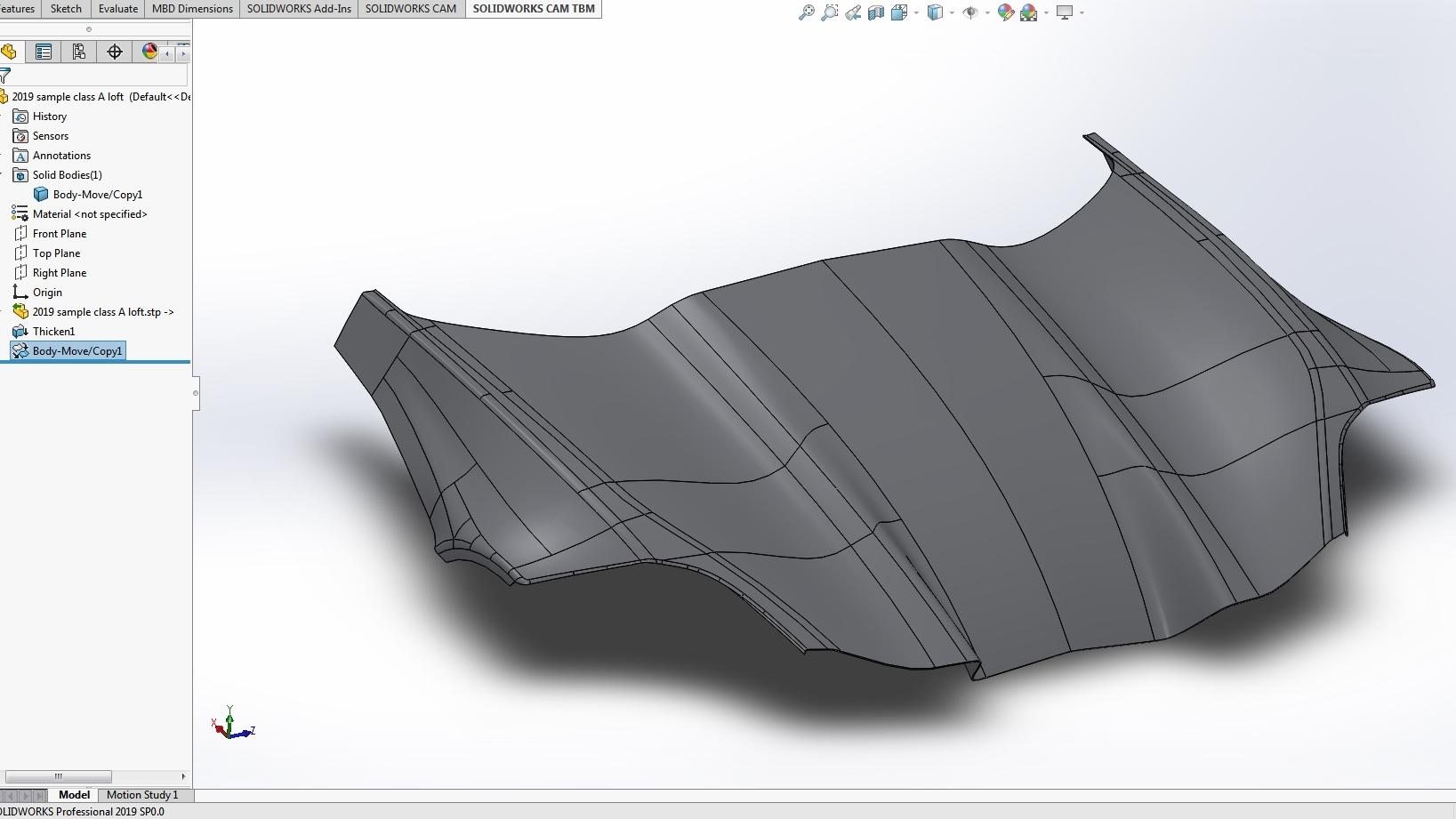 Solidworks Thicken Model