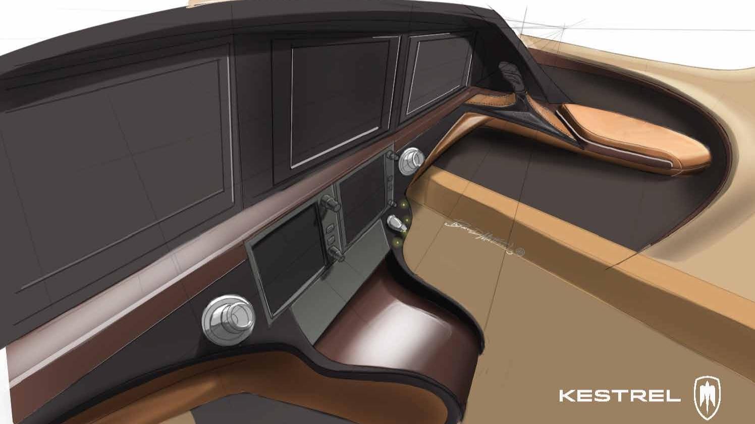 Kestrel K350 Cockpit