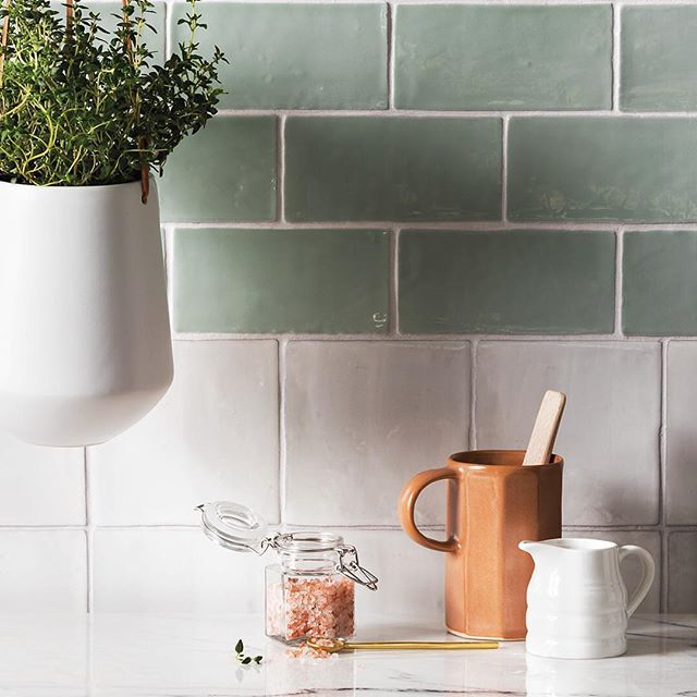 2019 green seems to be trending @firedearthuk - Further Reductions! Our Forecast tiles have been added to our Winter Sale with 25% off! Shop the look now online or visit your local Showroom.  #firedearth #firedearthuk #tiles #green #pastel #colour #ihavethisthingwithtiles #interiorinspo #interiordesign #homeinspo #kitchendecor #ihavethisthingwithcolor #propainter #trending