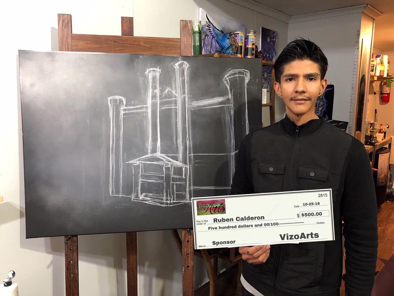 VizoArts sponsored  Ruben Calderon's  art show on November 10, 2018