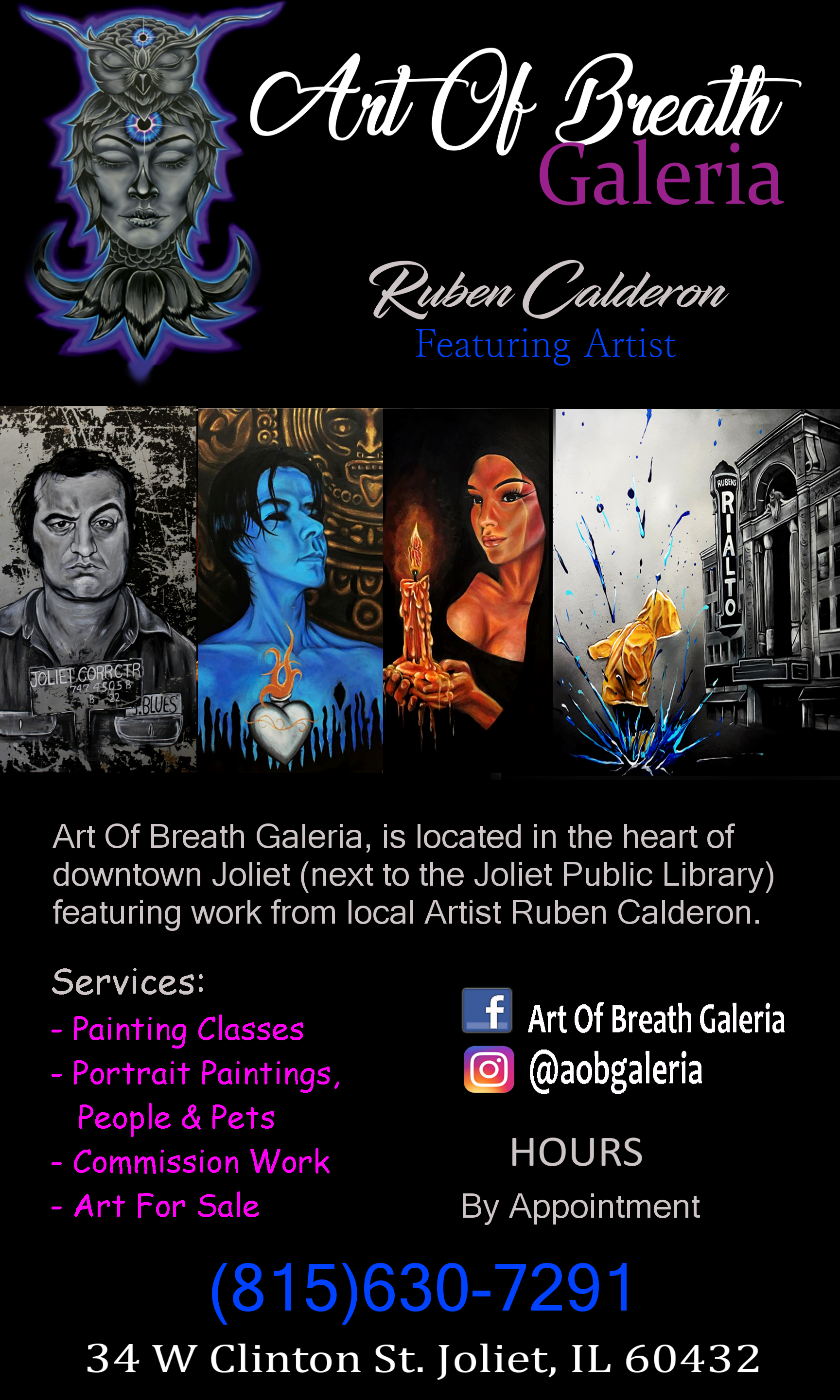 Art of Breath Galeria  in Joliet, IL.