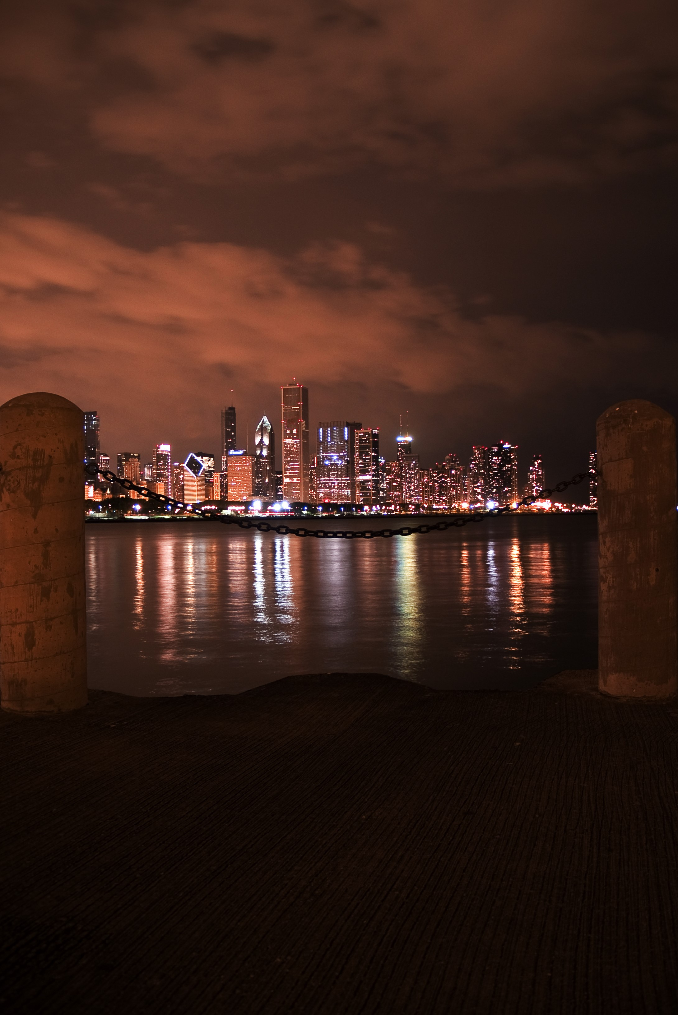 A view from the Adler Planetarium, Chicago, Illinois - by John Cornelissen