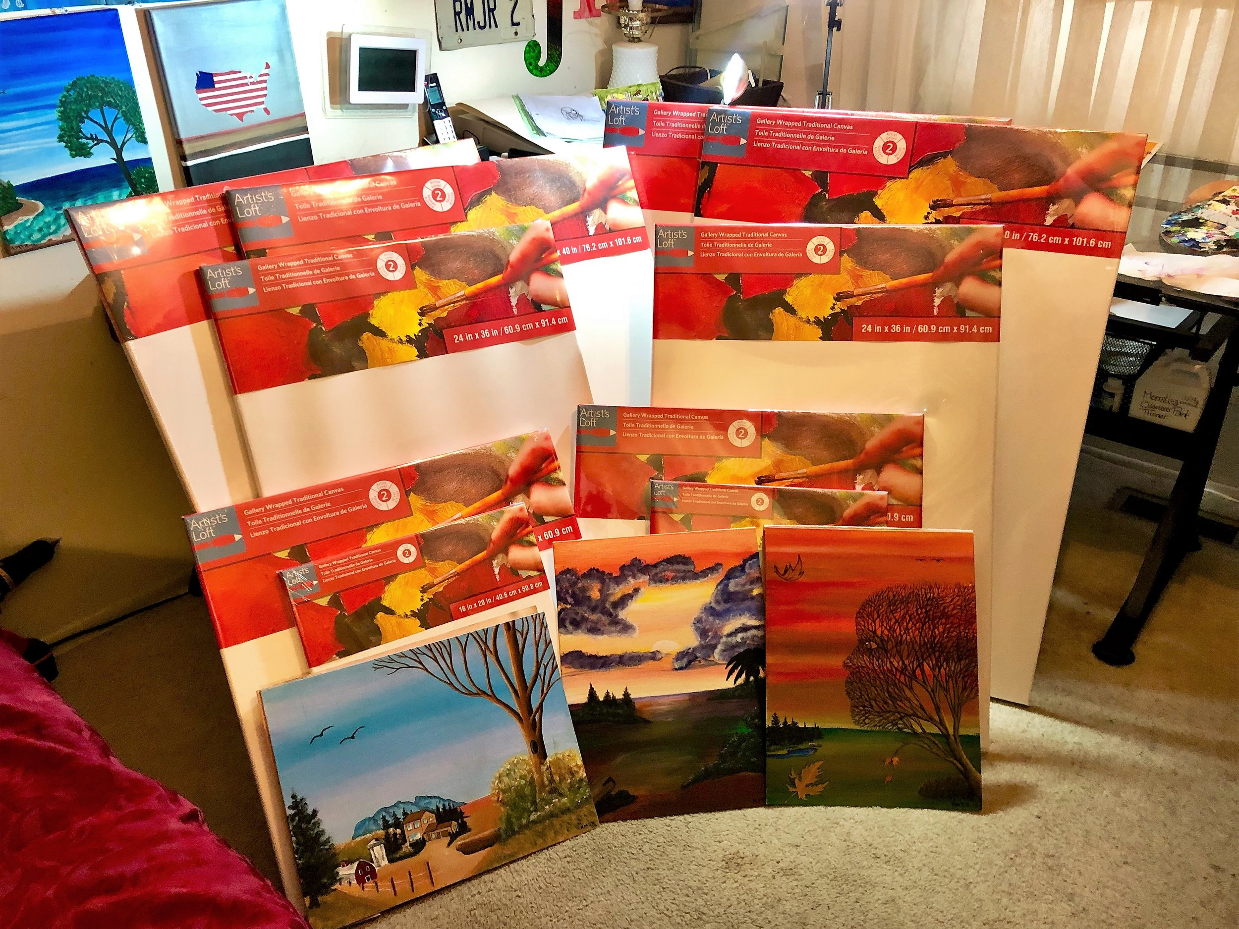 VizoArts  donated 10 canvases of all sizes to  Rose  to support her work and help her on her way to greatness.