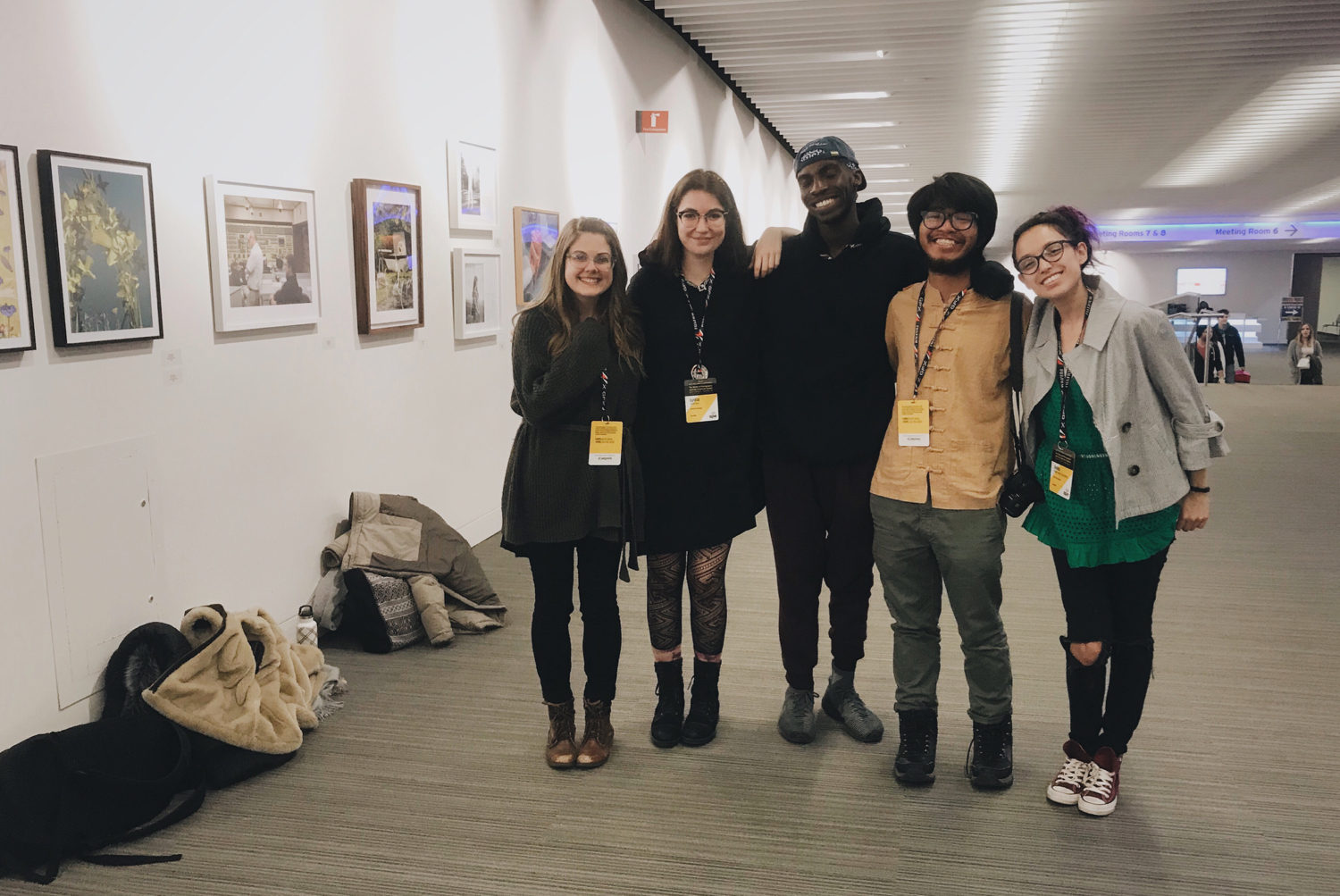 Photo of my students and me (left) at the SPE National 2019 Conference in Cleveland, OH - © Ally Christmas