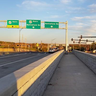 U.S. 65 and Battlefield Road Diverging Diamond Interchange