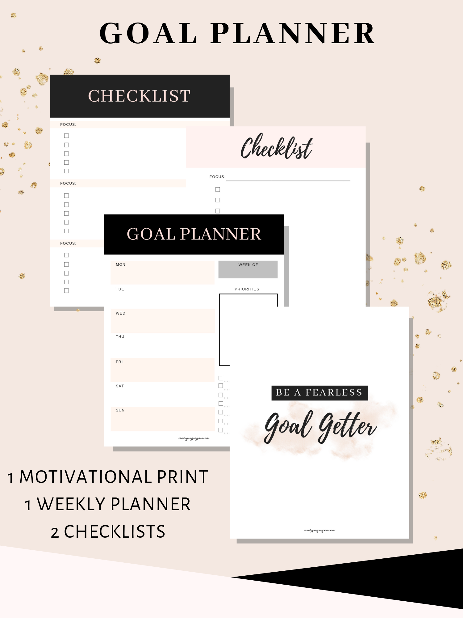 Mary Nguyen, Free Goal Planner and Checklist