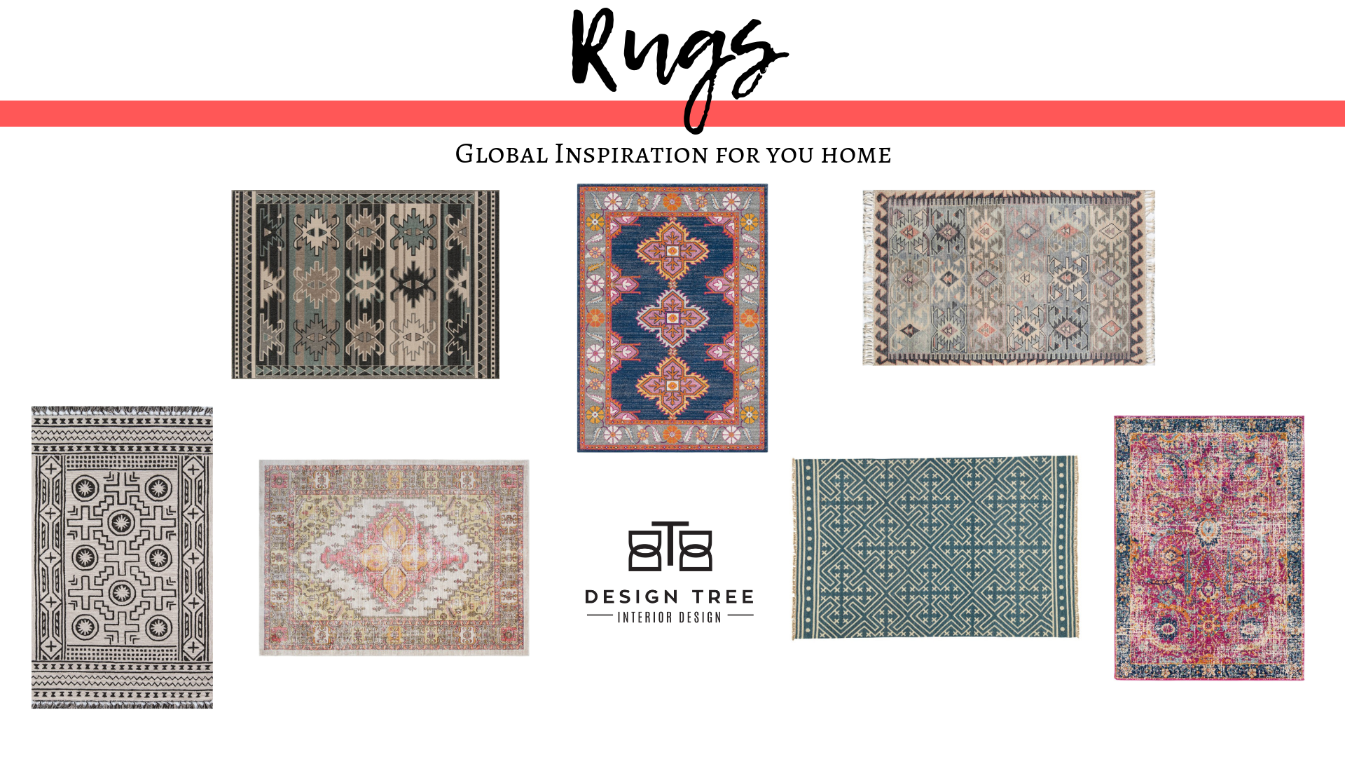 Globally sourced rugs from India, Turkey & Egypt.