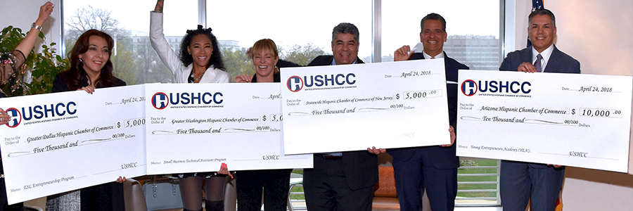 Local Chamber Grant Program   The USHCC Foundation has partnered with Wells Fargo to provide $100,000 dollars in funds each year directly to chambers across the country for programs that strengthen and foster the growth of small business communities.   READ MORE
