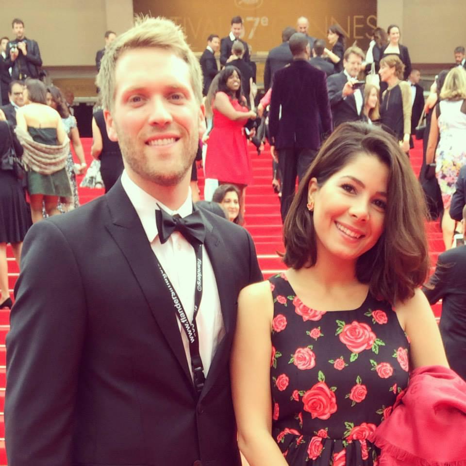 Cinematographer Daniel Rink & Tara Atashgah at the Cannes Film Festival .