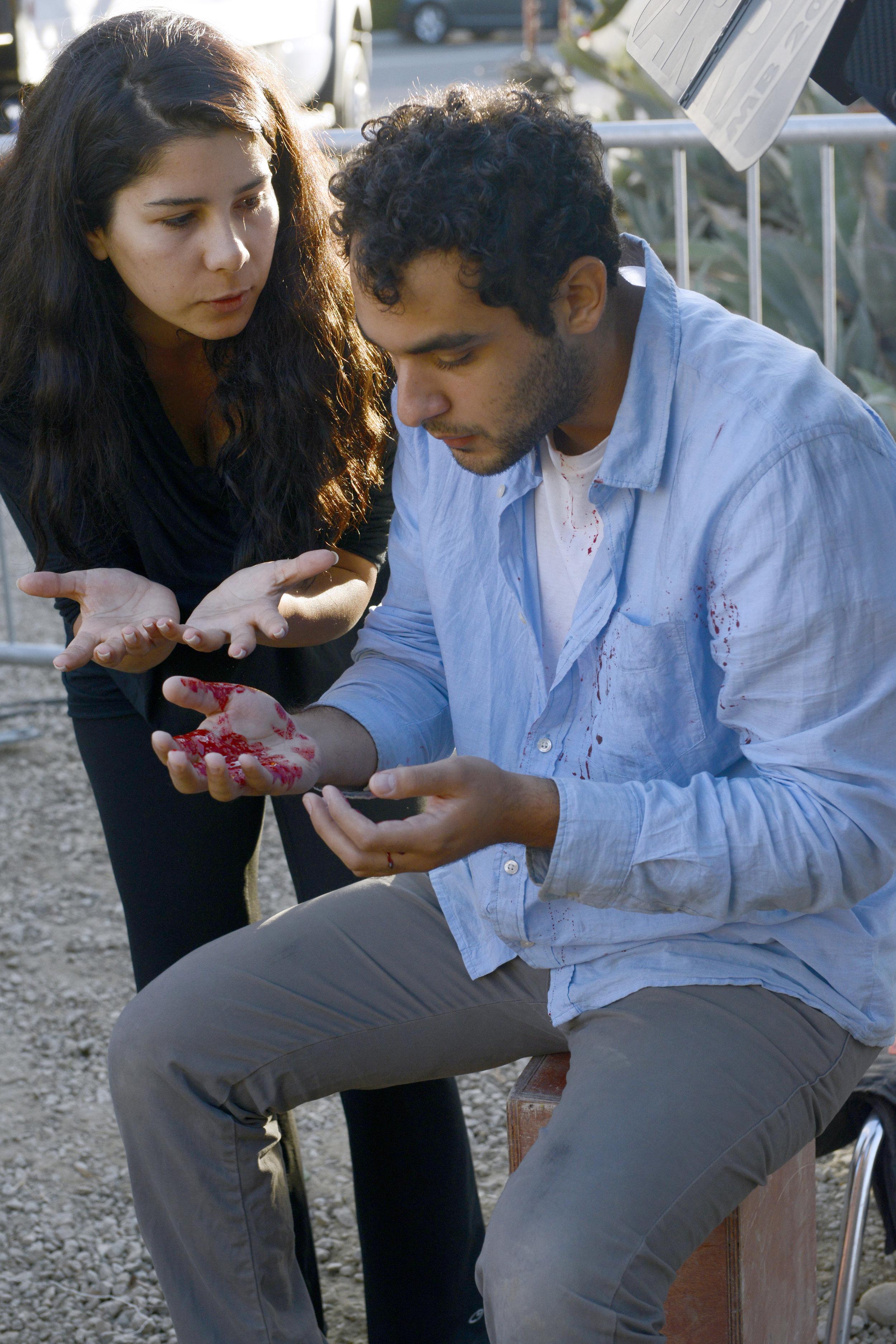 Tara Atashgah & actor Chervine Namani .