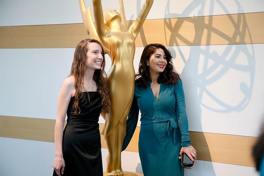 College Emmy Awards . Melissa Hoppe & Tara Atashgah .