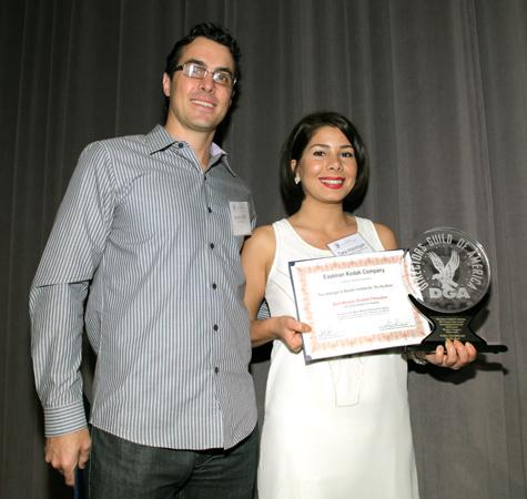 DGA awards . Tara Atashgah & Aaron Saffa Kodak representative