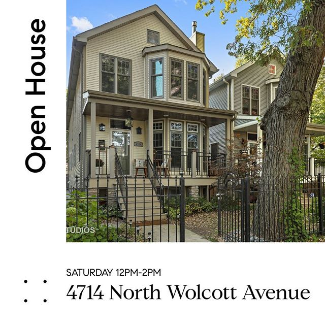 Come warm up at our Open House this Saturday at 4714 N. Wolcott from 12pm-2pm. 🏡 ❄️ • • • • • • • #openhouse #singlefamilyhome #welcomehome #family #buyers #sellers #chicago #chicagohomes #compassrealestate #realestate #hudsonparkergroup #hpg #hpglistings #luxurylistings #luxury