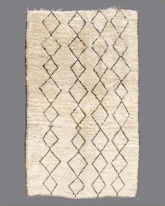 "BA10  BENI ALAHAM, MIDDLE ATLAS MOUNTAINS, MOROCCO, 1960's  10'8"" x 6'3"""