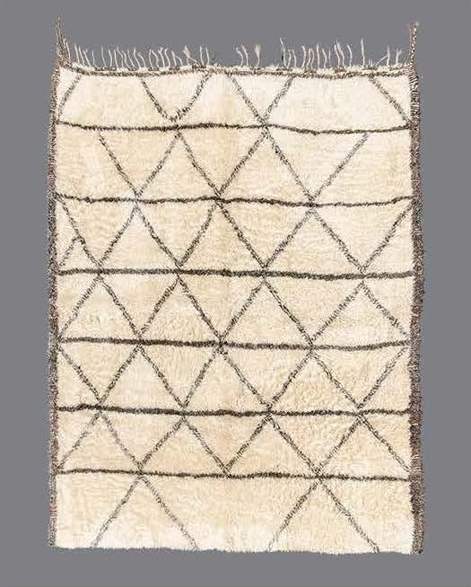 """BO_174  BENI OUARAIN, MIDDLE ATLAS MOUNTAINS, MOROCCO, 1960's-1970's  8' x 6'11"""""""