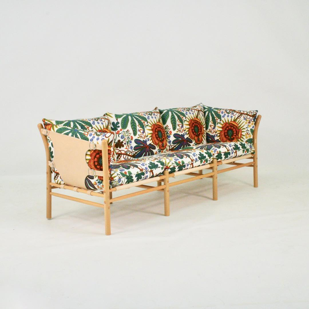 ILONA 3 SEATER SOFA WITH CUSTOM JOSEF FRANK UPHOLSTERY