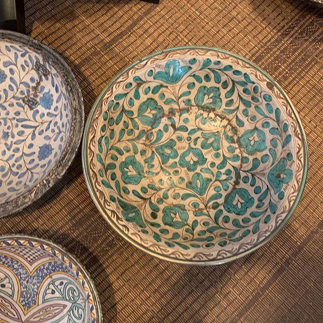 More Moroccan beauty headed to Miami. #marrakech #antiqueceramics