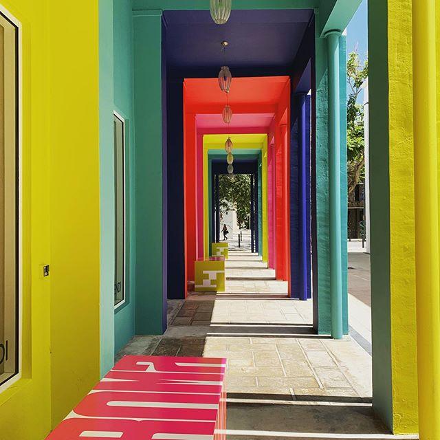 Colorful corridors in Miami Design District #atmdd
