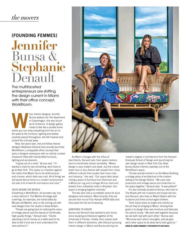 Our feature in @indulgemiami in the August/September issue. A special thank you to @powercollective_pr !! #workroommiami #bunsastudio #interiordesign #miamiinteriordesign #womenindesign