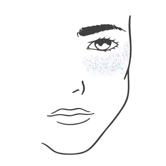 Island Glitter - How To - Cheekbones