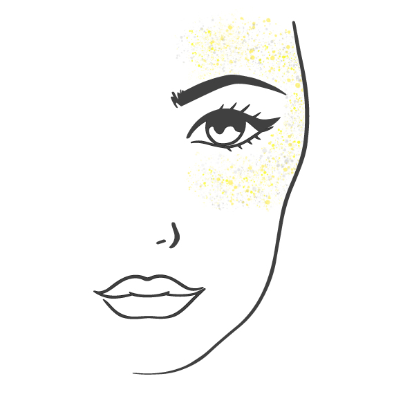 Island Glitter - How To - Face