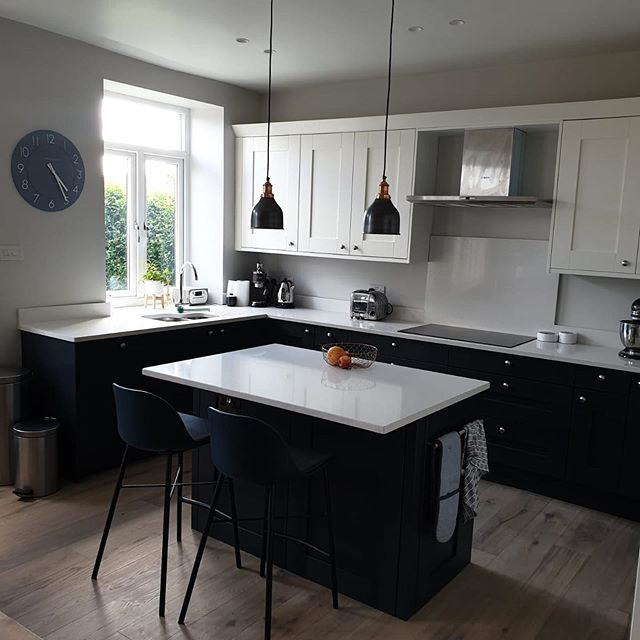 This is a stunning kitchen. Even if we do say so ourselves.  Working the design house wetherby team to create this has been a pleasure.  Just take a minute and look at it!! #builditbetter #kitchen #granite #worktops #blue #cream #shaker #stool