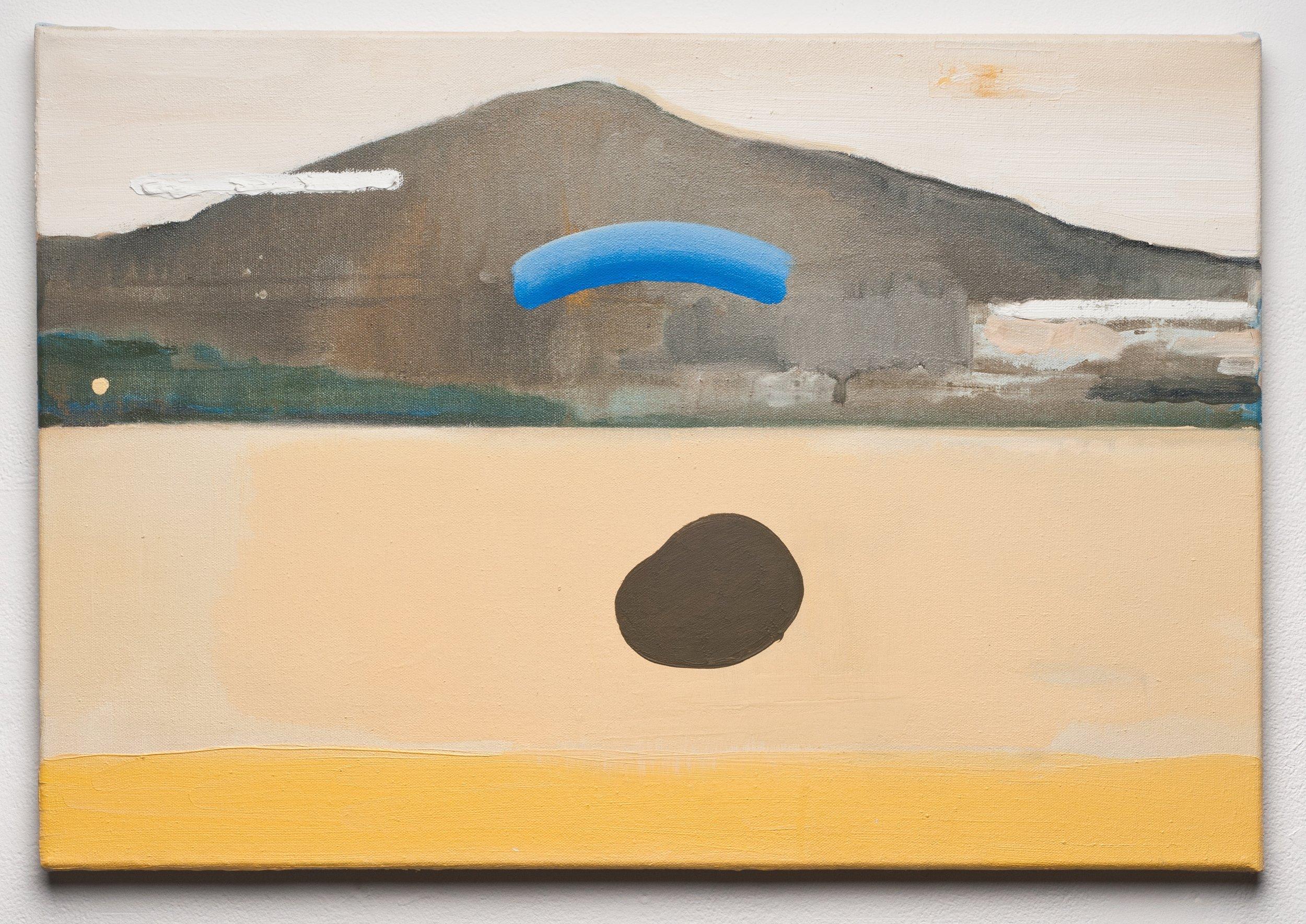 10.Skull in the River, Oil on canvas 16x24 in, 2014 copy 2.jpg