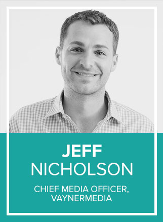 - Jeff Nicholson was appointed as VaynerMedia's first Chief Media Officer in June 2017 after growing a paid media group of nine into a diversified and full-service media organization of nearly 200 in two years, with managed spend nearly doubling year-over-year. In Jeff's current role, he oversees all buying, planning, ad tech, and analytics services offered by Vayner.