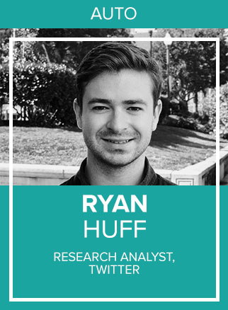 - Ryan Huff is a Research Analyst at Twitter. Based at the company's San Francisco office, Huff measures and analyzes campaigns running on the platform for advertising clients in a variety of national business sectors, including the automotive industry. In addition to breaking down data into actionable insights for Twitter clients, Huff specializes in social listening and community panel research.Socials: TW