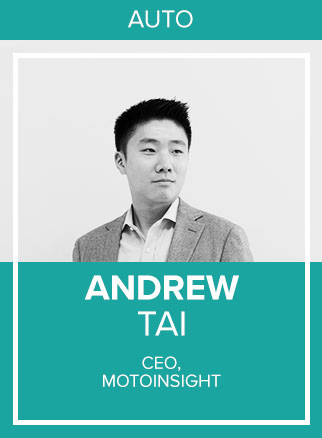 - Andrew Tai is CEO of Motoinsight, a technology company that makes buying cars easier. Motoinsight's flagship digital retailing platform MotoCommerce™ powers omni-channel and e-commerce enabled car buying experiences for leading automakers and dealership groups. Motoinsight was named one of Deloitte's Technology Fast 50™ Companies in 2017 and was listed number 32 on the 2018 Growth 500 ranking of Canada's Fastest-Growing Companies. Andrew is also a regular columnist for The Globe and Mail's automotive section covering topics ranging from shopping tips to industry trends.