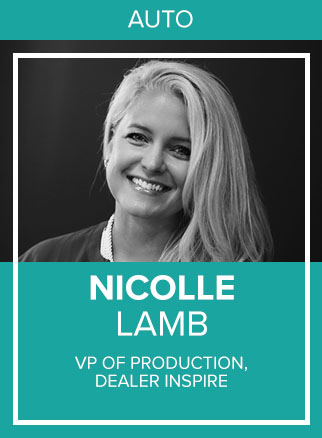 - Nicolle Lamb is the VP of Production at Dealer Inspire, a certified advertising and technology provider for 20 OEM brands. With more than 20 years of Marketing experience at organizations like Ameritech, US Cellular, and Epsilon, Nicolle has always been a driver of growth and progress with a focus on excellent client services. Four years ago she took a leap of faith and landed a Vice President role at Launch Digital Marketing/Dealer Inspire, a start up at the time. Quickly, she became a core member of the leadership team for these two growing companies. Nicolle has managed a multitude of highly successful marketing campaigns, but being a mentor and a coach is one of her favorite roles. DI has expanded to over 500 employees and 3,000 clients today and growing.
