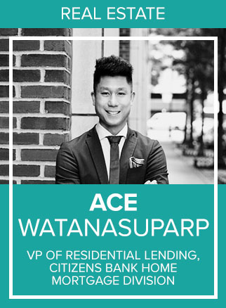 "- Ace Watanasuparp is the Regional Vice President of Citizens Bank Home Mortgage Division; a top-performing bank. Ace joined Citizens Bank 3 years ago and has since broken down barriers by expanding into new markets and capturing unprecedented market share. His esteemed reputation in the finance and real estate industry has allowed him to attract talented top producing Loan Officers in the NY, NJ and Connecticut areas. Prior to joining Citizens Bank, Ace took on the role of President of Douglas Elliman's lending arm with Dottie Herman and Howard Lorber, formerly known as DE Capital, where he oversaw multiple states, including New York, New Jersey and Connecticut.A native New Yorker of Thai and Taiwanese ancestry, Watanasuparp became the first Asian-American in the University of Connecticut's history to ""walk on"" to the prestigious men's basketball team; he then went onto NYU Law School. Ace has been featured in the Wall Street Journal, Brick Underground, Real Estate Weekly, NY Real Estate Journal and the Mann Report as an expert in Residential Lending."