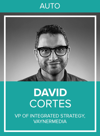 - Since joining VaynerMedia in 2017, David Cortés has worked to elevate creative and brand strategy across projects to ensure the success of his clients. While he didn't grow up wanting to become a strategist, he was lucky enough to have stumbled upon the career and has since accumulated over 15 years of experience helping brands and consumers connect with one another.Prior to joining VaynerMedia, David was a Senior Strategist at FCB NY, for which he won a Gold Effie in 2014 and a Bronze Effie in 2016 for his work on The Real Cost, a teen smoking prevention campaign. He also served as a Retail Marketing Manager at Ford Motor Company before transitioning to the agency side in 2006.